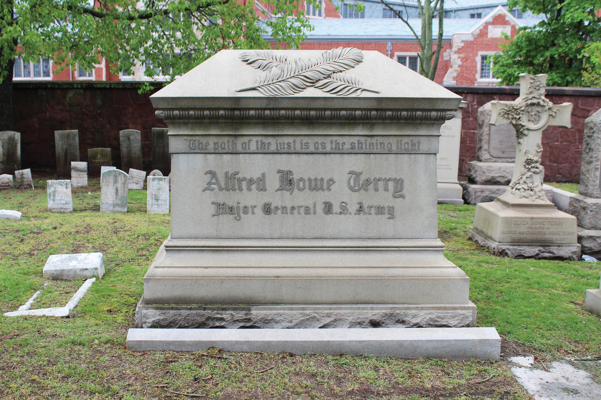 "<span style=""background-color:transparent"">Major General in the U.S. Army. Terry is the highest ranking U.S. Army veteran in Grove Street Cemetery. A graduate of Hopkins School in New Haven, he attended Yale Law School but did not graduate. Although he had no formal military training, when the war started he raised the 2nd Connecticut Infantry Regiment and was appointed its colonel. He led his troops in the capture of Fort Fisher in North Carolina in 1865 and served in the army out west after the war.</span><span style=""background-color:transparent""> </span><span><span style=""background-color:transparent"">Location: 21 Ivy</span></span>"